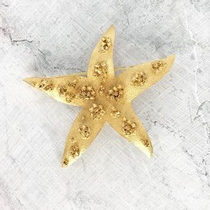 ⭐️NEW ARRIVAL Vintage Starfish Brooch Pin BSK Gold